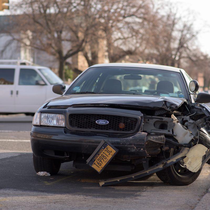 Car collision of black ford, car insurance near me